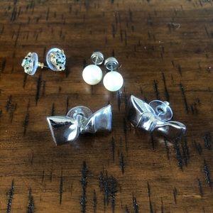 Stella & Dot Earring bundle Roar, Bow and Pearl